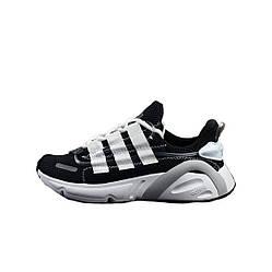"Мужские кроссовки Adidas Lexicon ""Black/White"" (люкс копия)"