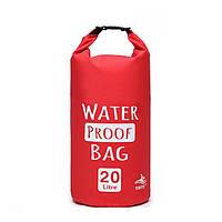 Водонепроницаемая сумка гермомешок Waterproof Bag 20L красная, фото 1
