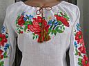 Вышиванка-реглан для девочки,с длинным рукавом, фото 3