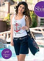 Женский стильный комплект с шортами
