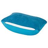 Подушка для путешествий с пенопластовыми шариками, цвет Голубой - su 95748218, фото 3