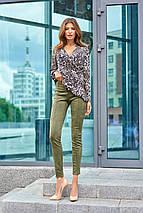 Женская леопардовая блузка с запахом (Кейли jd), фото 2
