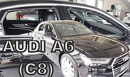 Дефлекторы окон (ветровики) Дефлектор вікон Audi  A6 (C8) 2018-> 4D (вставні, кт - 4шт) Sedan (Heko)
