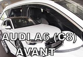 Дефлекторы окон (ветровики) Дефлектор вікон Audi  A6 (C8) 2018-> 5D (вставні, кт - 4шт)  Avant (Heko)