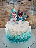 Топпери ЛОЛ, прикраси для торта LOL на дерев'яній основі ( 9 видів ), топери LOL на торт, ляльки ЛОЛ топпери, фото 4