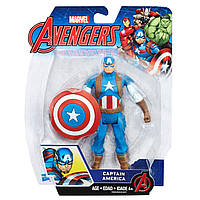 Фигурка Капитан Америка 15см Мстители - Captain America, Avengers, Basic, Hasbro - 138341