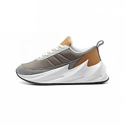 """Женские кроссовки Adidas Sharks """"Grey/Brown"""" (люкс копия)"""