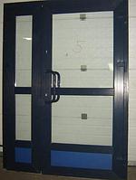 Двери в магазин ламинация
