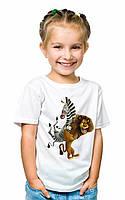 Фото на белой футболке детской