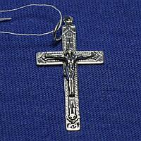 Серебряный крестик с чернением Прямой 3748-ч, фото 1