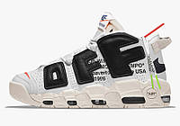 Баскетбольні кросівки Nike Air More Uptempo & Off-White. Розмір 45