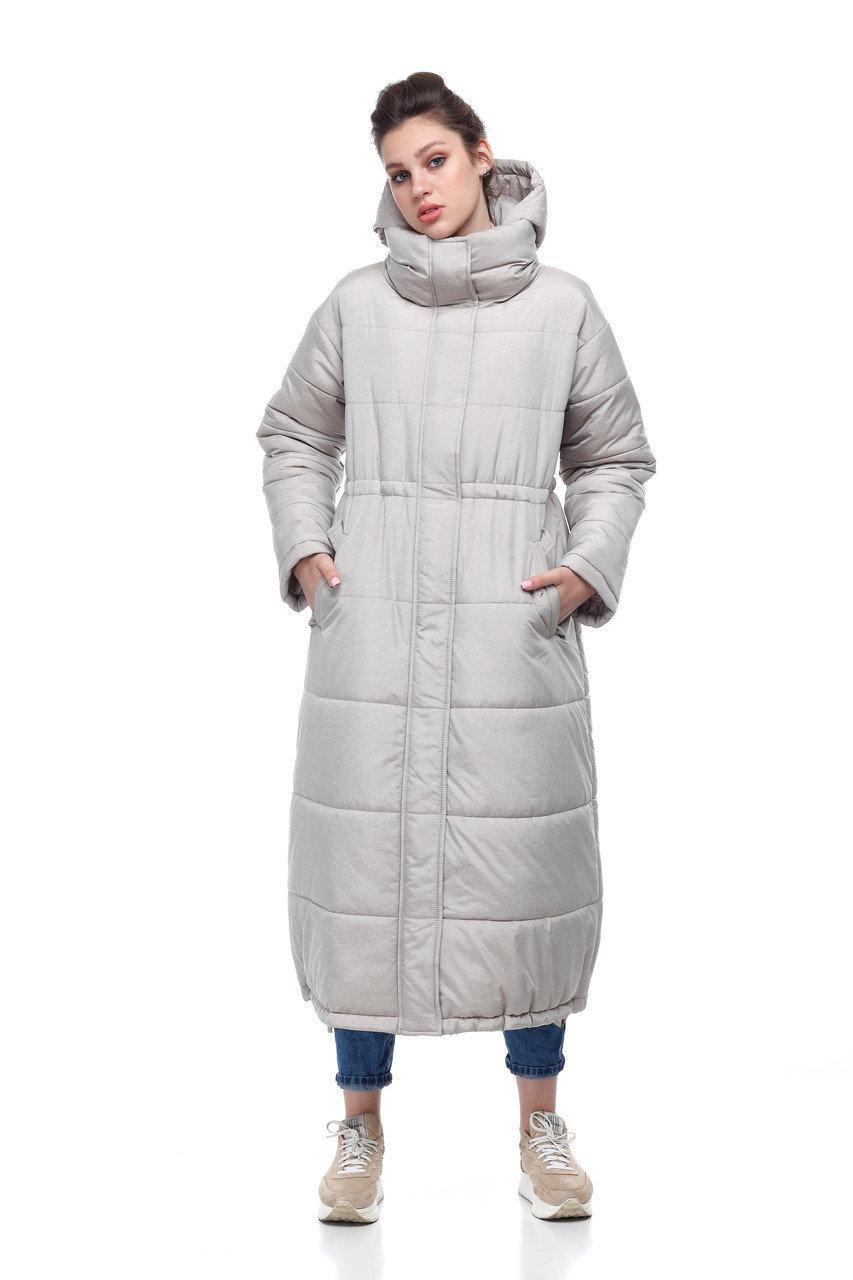 Новинка! Удлиненное зимнее пальто  на синтепухе размеры 42-50