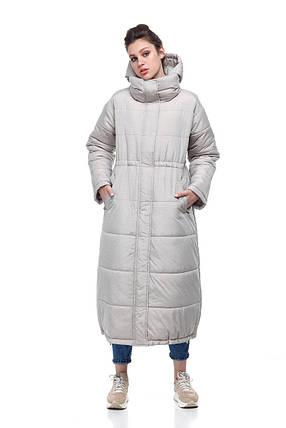 Новинка! Удлиненное зимнее пальто  на синтепухе размеры 42-50, фото 2