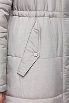 Новинка! Удлиненное зимнее пальто  на синтепухе размеры 42-50, фото 3