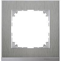 M-Pure Dеcor 1-постовая рамка, нержавеющая сталь/алюминий
