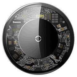 Беспроводная зарядка для телефона быстрая Baseus Simple Crystal - Прозрачная wireless charge