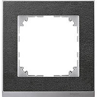 M-Pure Dеcor 1-постовая рамка, камень/алюминий