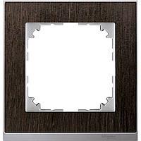 M-Pure Dеcor 1-постовая рамка, венге/алюминий