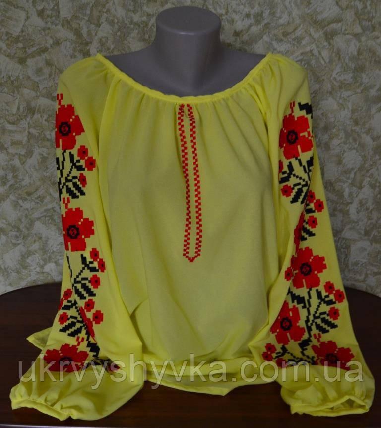 """Шифонова блуза """"Літня"""" жовта"""