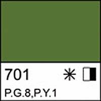 Краска масляная ЛАДОГА виридоновая зеленая, 120мл ЗХК