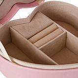"""Шкатулка для украшений """"Романтика"""" (17*15*7 см) кожзам pink 0601JA, фото 3"""