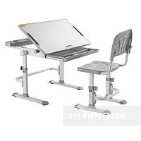 Комплект растущей мебели Парта 83х50 см и стул для детей 3 - 15 лет ТМ Cubby DISA GREY
