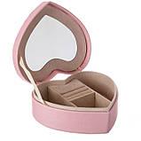 """Шкатулка для украшений """"Романтика"""" (17*15*7 см) кожзам pink 0601JA, фото 2"""