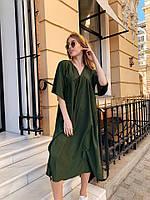 Платье женское длинное в стиле оверсайз с широкими рукавами (К28260), фото 1