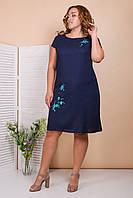 Льняное платье большого размера 50-56 (в расцветках)