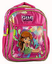 Рюкзак-ранец Rainbow Girl 2 отделения 38*28*18 см розовый (8-518)