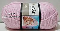Акриловая пряжа для вязания BABY YarnArt № 649 - светлый розовый