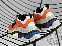Женские кроссовки Balenciaga Triple S Orange Grey Black 541640W09OE7581, фото 2