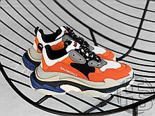 Женские кроссовки Balenciaga Triple S Orange Grey Black 541640W09OE7581, фото 3