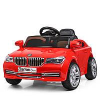 Детский электромобиль BMW с кожаным сиденьем, M 3271EBLR-3 красный
