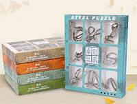 Коллекция из 9 проволочных металлических головоломок