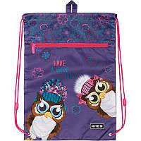 Сумка для взуття з кишенею Kite Education Owls K19-601M-9