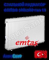 Сталевий радіатор Emtas 500/500 тип 11 бокове підключення