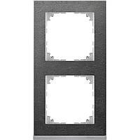 M-Pure Dеcor 2-постовая рамка, камень/алюминий