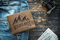 Мужской кожаный кошелек ТатуНаКоже, wilderness, фото 1