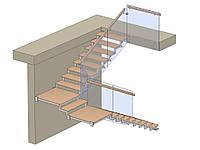 Лестница с поворотом на 180 градусов, фото 1