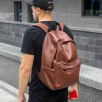 Рюкзак коричневый кожаный мужской TRIGGER BRWN