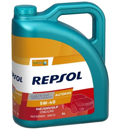 Моторное масло REPSOL Autogas 5W40 (5л) для автомобилей на газу (сжатый газ ) CNG/LPG