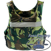 Страхувальний жилет-майка 50-70 кг універсальний камуфляж сертифікований - рятувальні жилети, фото 1