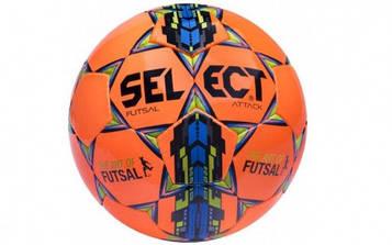 М'яч футзальний №4 SELECT FUTSAL ATTACK (оранжево-синій)