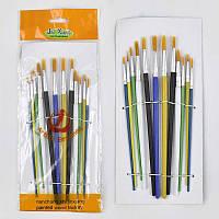 Кисточки для рисования цветные 251-12 / 555-550 (600) 12шт в упаковке