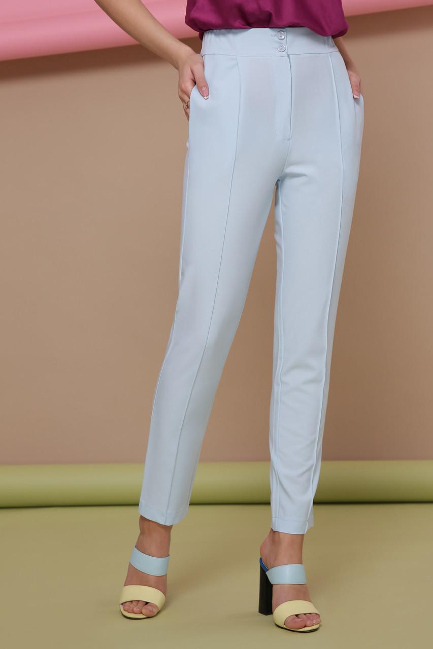Стильные женские классические брюки со стрелками брюки Бенжи 2 голубые