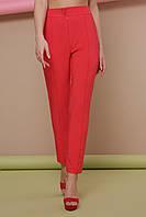 Стильные женские классические брюки со стрелками брюки Бенжи 2 кораловые