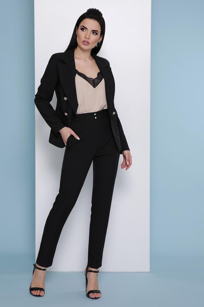 Стильные женские классические брюки со стрелками брюки Бенжи 2 черные