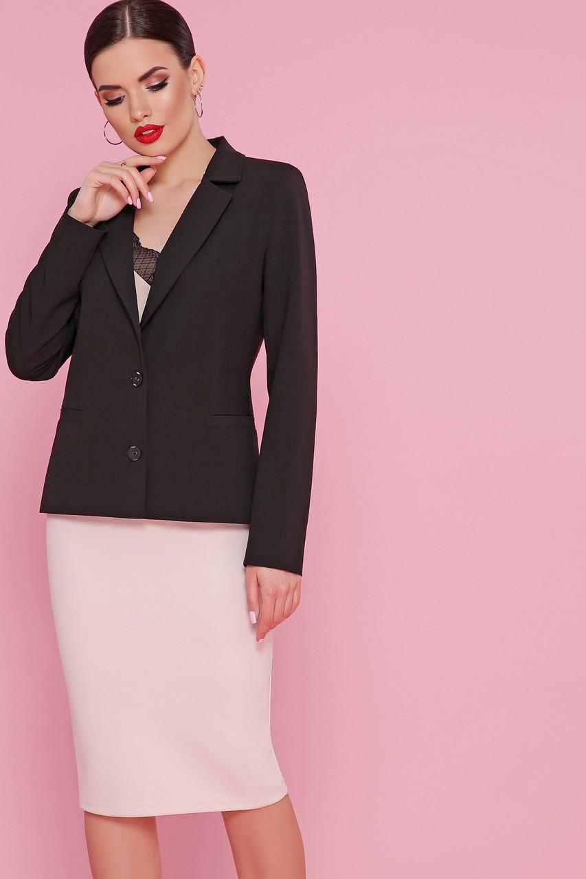 Строгий черный женский деловой пиджак Пиджак Оскар