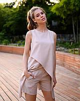 Костюм женский из льна с шортами и туникой (К28268), фото 1